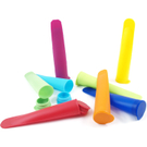 Multicolored Silicone Ice Pop Maker, Set of 8
