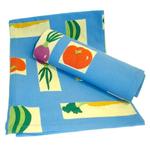 Vegetable Cobalt Blue Kitchen Dish Towels