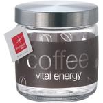Bormioli Rocco Giara Inox Glass Natural Coffee Storage Jar With Lid