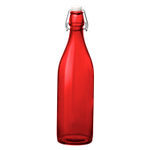 Bormioli Rocco Giara Red Sprayed Glass Swing Top Bottle