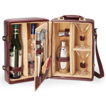 Picnic Time Manhattan Two-Bottle Cocktail Case Brown