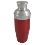Red Enameled Stainless Steel Cocktail Shaker