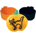 Tovolo Silicone Pumpkin Mini Cupcake Mold, Set of 8
