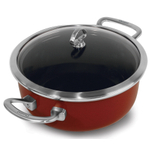 Chantal Chili Red Copper Fusion Dutch Oven with Lid 4 Quart