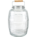 Anchor Hocking Glass Barrel Jar with Lid and Handle, 2.5 Gallon