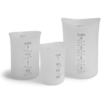 iSi Clear Silicone Measuring Cup Set of 3