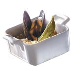 Revol Belle Cuisine White Porcelain Miniature 2.75 Ounce Square Dish