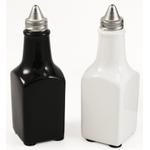 Black White Ceramic Vintage Oil & Vinegar Bottle Set