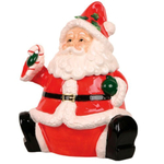 Classic Santa Christmas Holiday Cookie Jar NEW