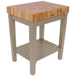 John Boos American Heritage Gray End Grain Maple Chef's Block with Slatted Shelf