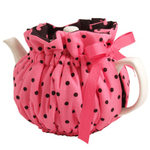 Pink Polka Dot Teapot Cozy Wrap Around