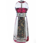 William Bounds Ruby Red Gem Acrylic Pepper Mill