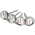 Outset Steak Thermometers, Set of 4