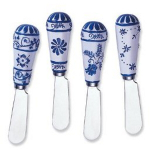 Global Garden Stainless Steel and Hand Painted Resin Spreader, Set of 4