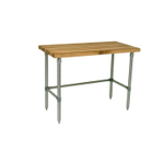John Boos Thick Maple Top Work Table on Adjustable Galvanized Base, 48 x 24 Inch