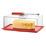 Bodum Bistro Cheese Dish with Dome and Slicer in Red