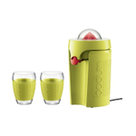 Bodum 3-Piece Bistro Electric Juicer and Pavina Cup Set in Green