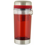 Red Teazer Double Walled Loose Tea Travel Tumbler Mug