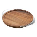 Nambe 17 Inch Tilt Wood Bar Tray