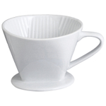 HIC No. 4 White Porcelain Coffee Filter Cone