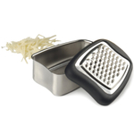 Mini Stainless Steel Cheese Grater with Cushioned Edge