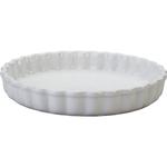 Le Creuset White Stoneware Petite Tart Dish