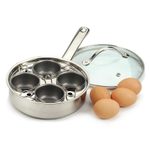 Endurance Nonstick Stainless Steel 4 Egg Poacher Set
