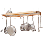 J.K. Adams Natural Maple Ceiling Pot Rack, 39 Inch