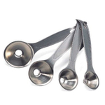 Stainless Steel 4 Piece Commercial Funnel Spoon Set
