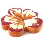 Studebaker Hawaiian Hibiscus Ceramic Soap Tray