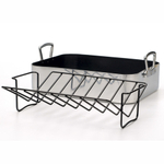 Aluminum Professional Nonstick Roasting Pan w/ Rack