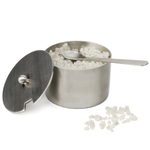 Brushed Stainless Steel Salt Cellar with Spoon