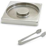 Swissmar Stainless Steel Glass Rimmer & Tong SetStainless