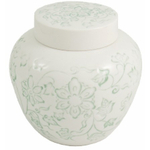 White Large Porcelain Loose Tea Storage Jar Canister
