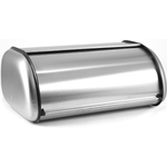 Anchor Hocking Brushed Stainless Steel European Style Bread Box