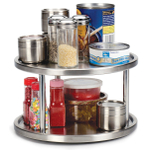 RSVP Stainless Steel 2 Tier Kitchen Turntable