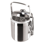 Galaxy Satin Finish Stainless Steel Ice Bucket with Tongs