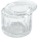 Anchor Hocking Fire King Glass Salt Dip with Lid, 4 Inch