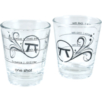 Outset 2 Ounce Measuring Shot Glasses, Set of 24