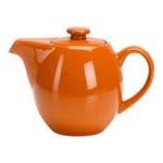 OmniWare Teaz Orange Stoneware 24 Ounce Teapot with Stainless Steel Mesh Infuser