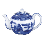 HIC Harold Import Co Porcelain 32 Ounce Blue Willow Teapot with Infuser