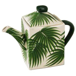 Hand Painted Palm Tree Frenzy Teapot