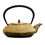 Japanese Tetsubin Yellow Cast Iron 20oz. Teapot