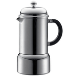 Bodum Chambord Matte Stainless Stove Top Espresso Maker, 12 Ounce