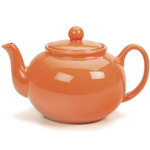 RSVP Tangerine Orange 6 cup Stoneware Chai Teapot