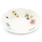 Lenox Butterfly Meadow White Porcelain Fruit Bowl, 6.5 Inch