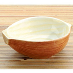 Home Gourmet Collection Ceramic Yellow Onion Vegetable Dipping Bowls, Set of 2