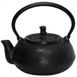 Black Bamboo Japanese Tetsubin Cast Iron Teapot