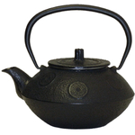 Black Traditional Japanese Tetsubin Cast Iron Teapot