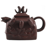 Yixing Clay Jumping Fish Tea Pot, 16 Ounce